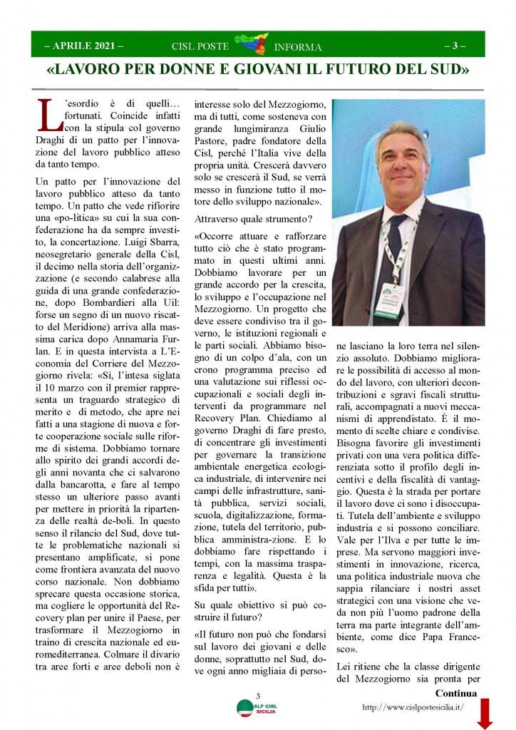Cisl Poste Sicilia Informa Aprile 2021_Pagina_03