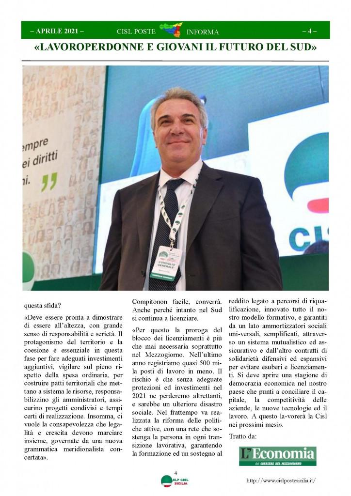 Cisl Poste Sicilia Informa Aprile 2021_Pagina_04