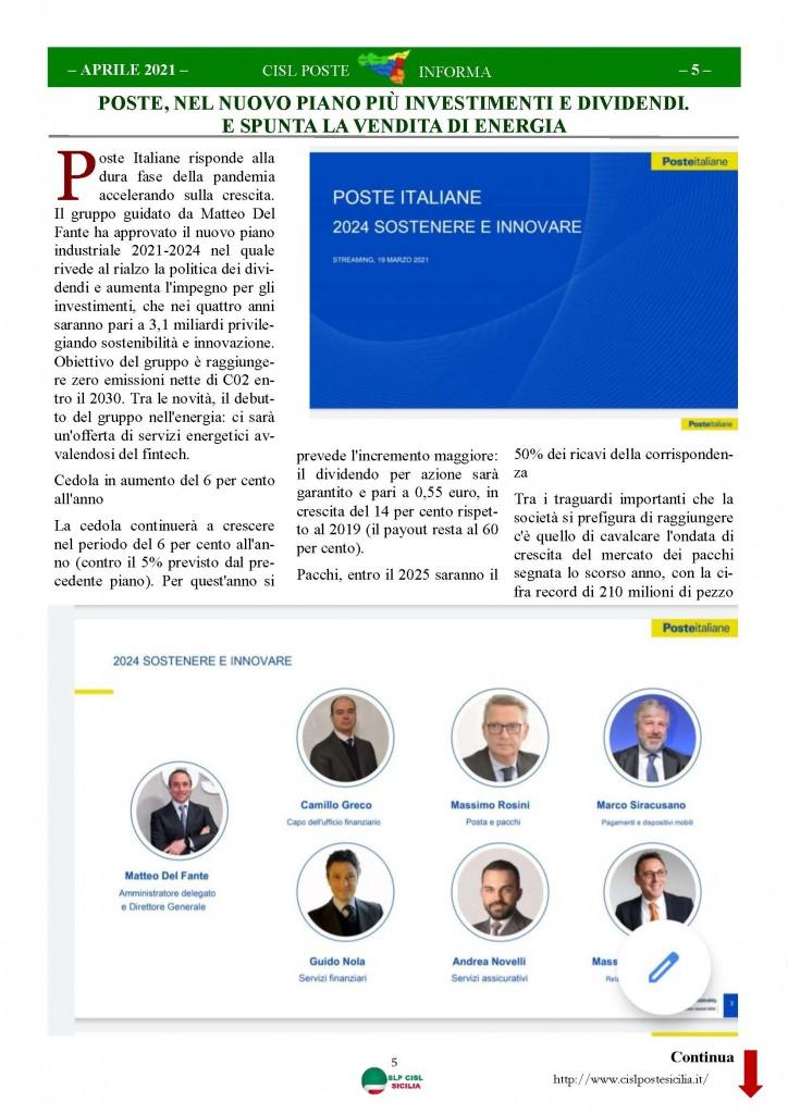 Cisl Poste Sicilia Informa Aprile 2021_Pagina_05