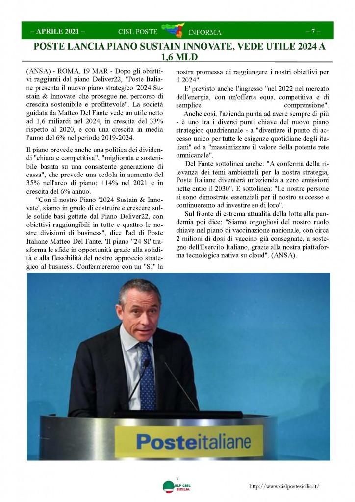 Cisl Poste Sicilia Informa Aprile 2021_Pagina_07