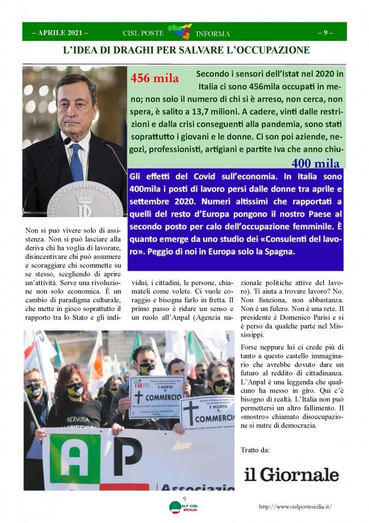 Cisl Poste Sicilia Informa Aprile 2021_Pagina_09