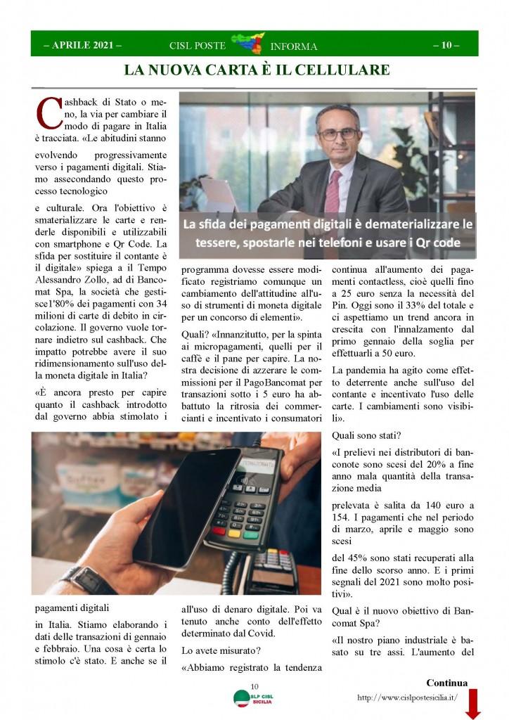 Cisl Poste Sicilia Informa Aprile 2021_Pagina_10