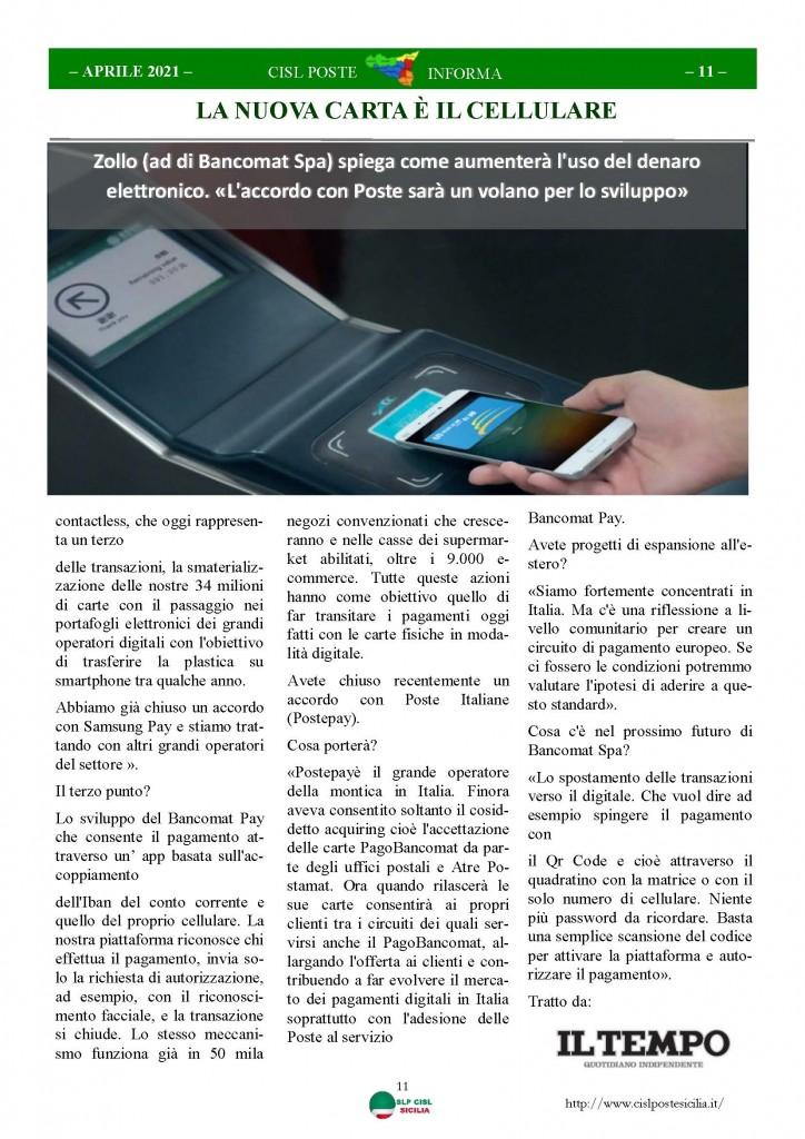 Cisl Poste Sicilia Informa Aprile 2021_Pagina_11