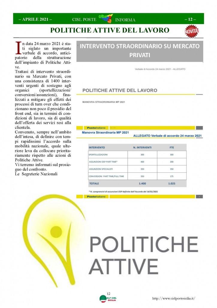 Cisl Poste Sicilia Informa Aprile 2021_Pagina_12