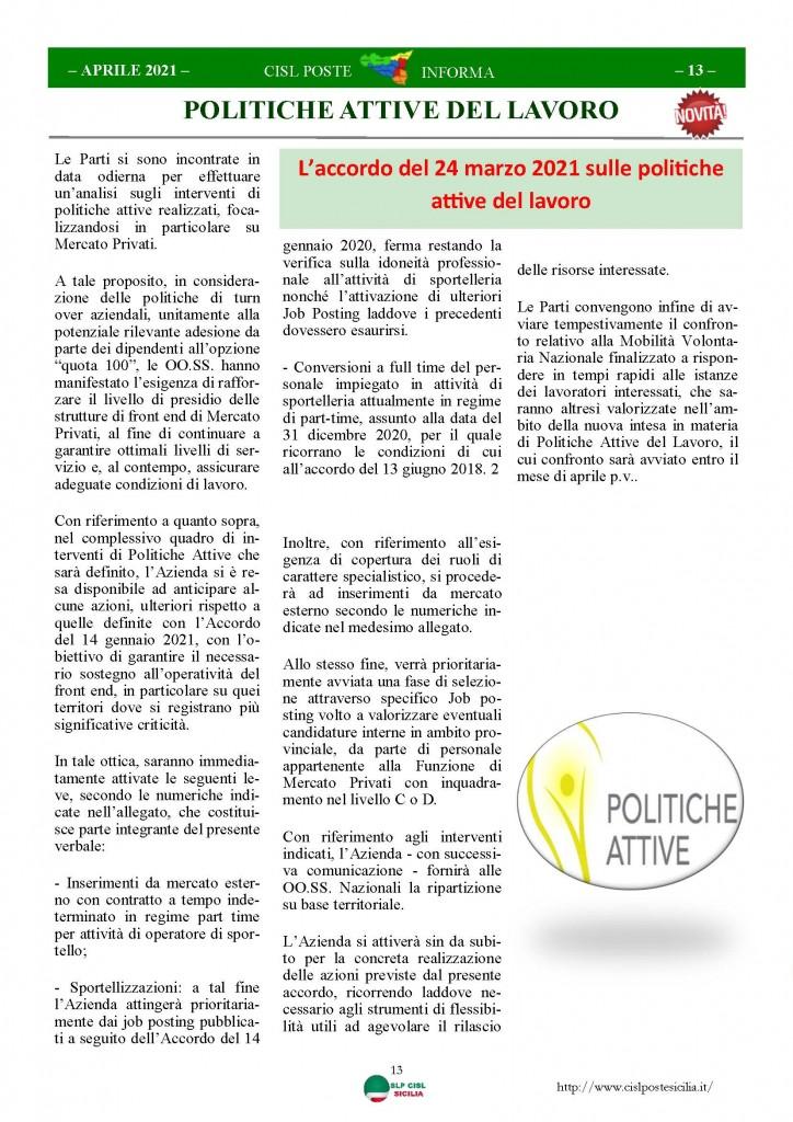 Cisl Poste Sicilia Informa Aprile 2021_Pagina_13