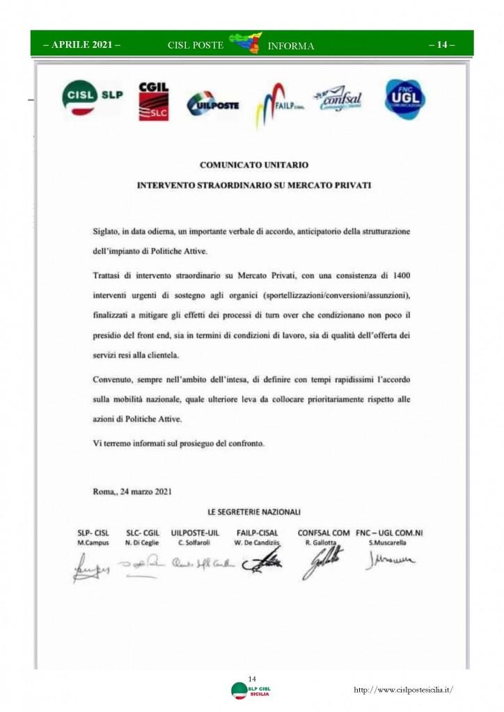Cisl Poste Sicilia Informa Aprile 2021_Pagina_14