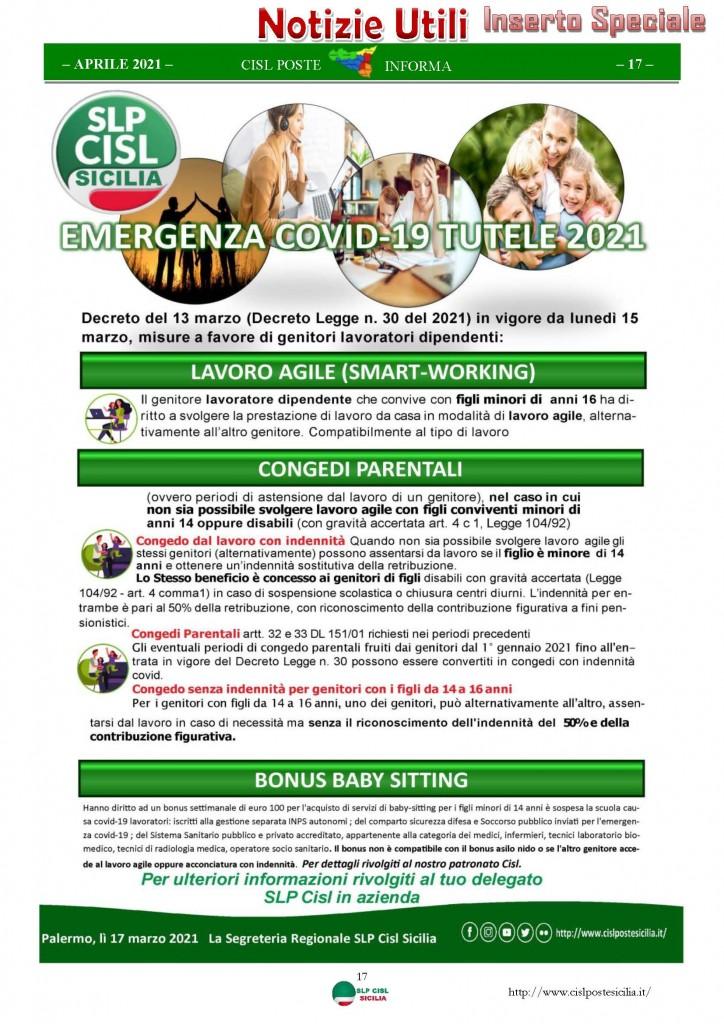 Cisl Poste Sicilia Informa Aprile 2021_Pagina_17