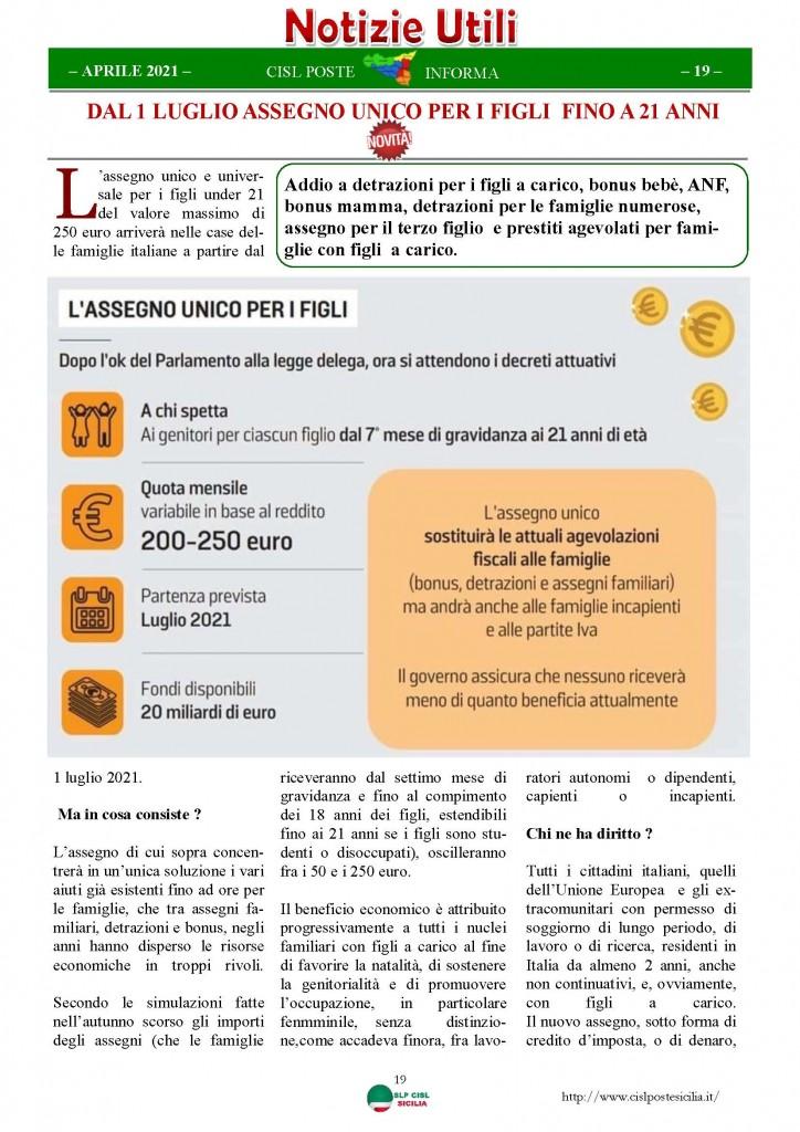 Cisl Poste Sicilia Informa Aprile 2021_Pagina_19