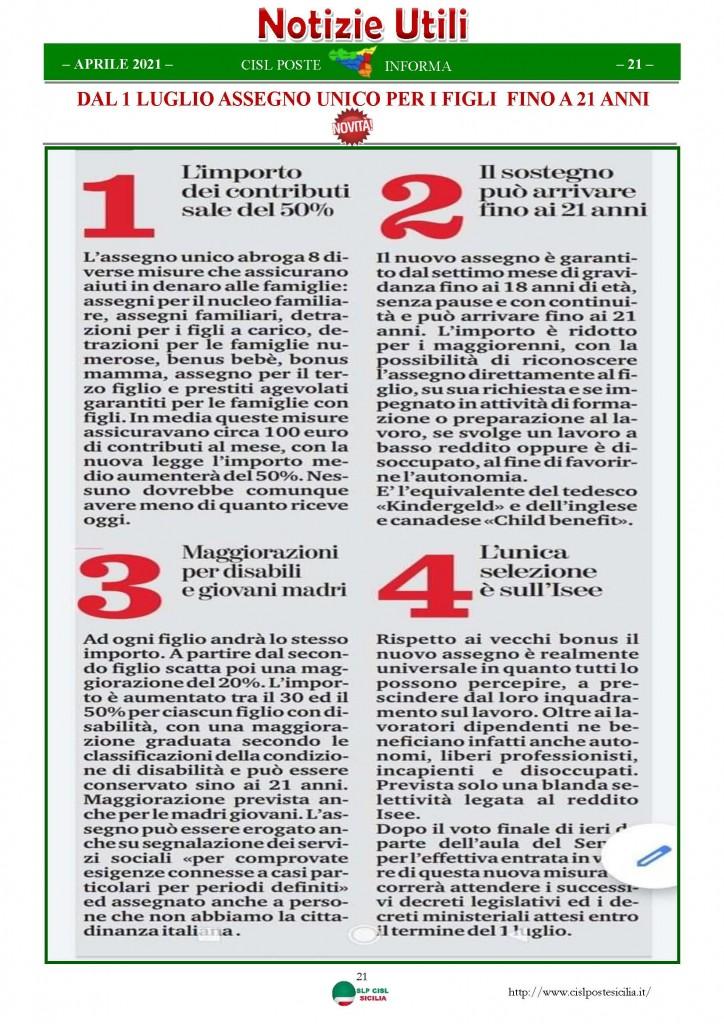 Cisl Poste Sicilia Informa Aprile 2021_Pagina_21