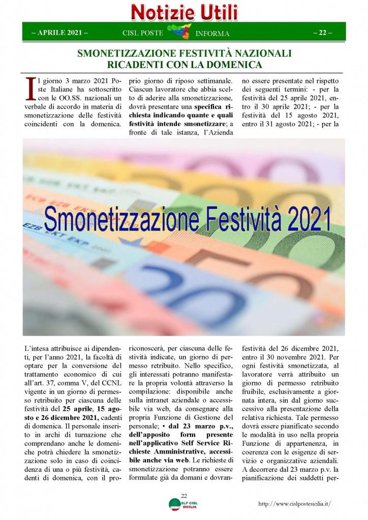 Cisl Poste Sicilia Informa Aprile 2021_Pagina_22