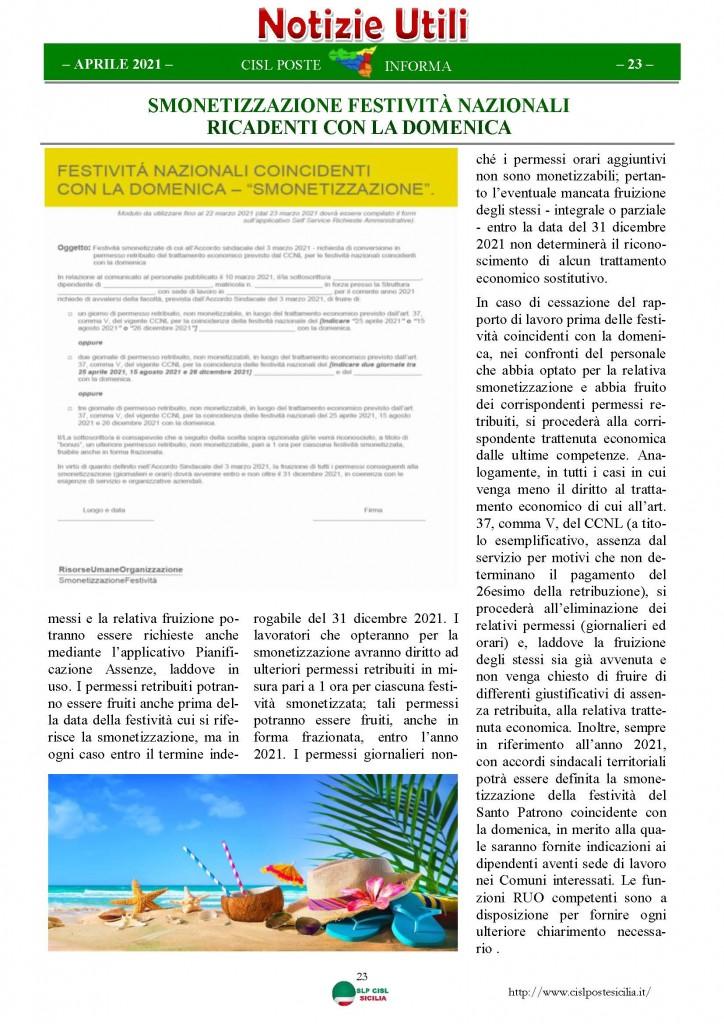 Cisl Poste Sicilia Informa Aprile 2021_Pagina_23