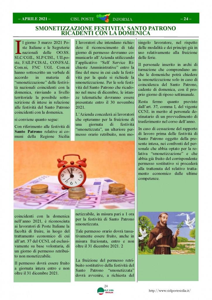 Cisl Poste Sicilia Informa Aprile 2021_Pagina_24