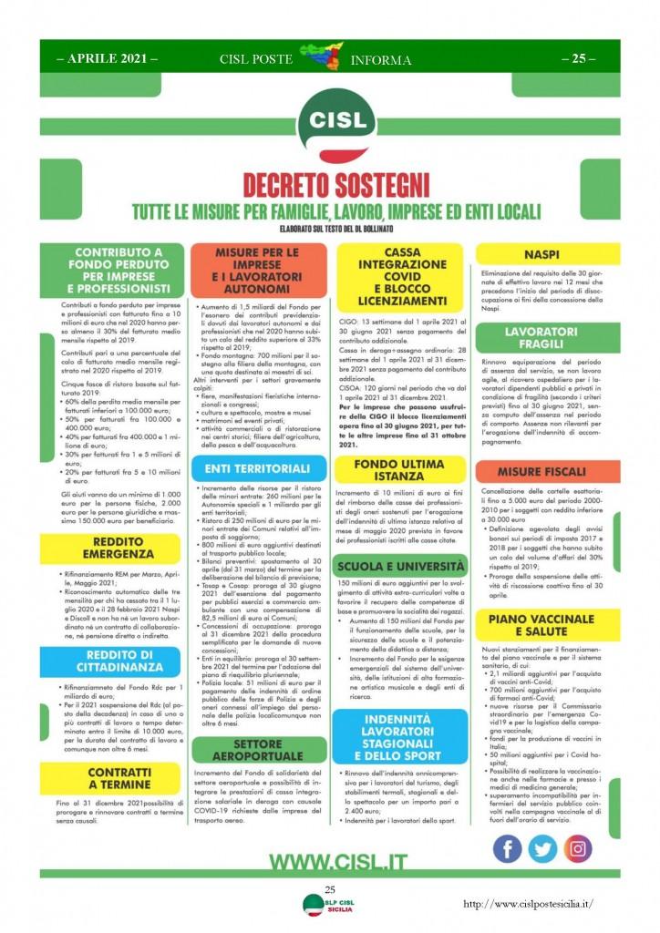 Cisl Poste Sicilia Informa Aprile 2021_Pagina_25