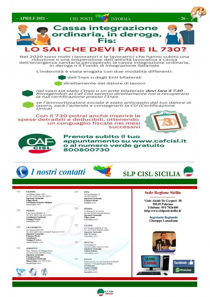 Cisl Poste Sicilia Informa Aprile 2021_Pagina_26